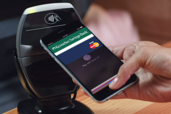 Apple Pay at an NFC-enabled terminal