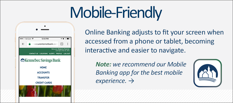 Online Banking is mobile-responsive.